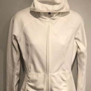 White North Face Hoodie zip jacket. Size small.